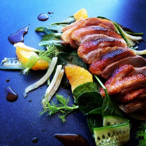 Warm Duck Salad with Orange and Fennel
