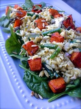 Rissoni Pesto Salad with Roast Pumpkin